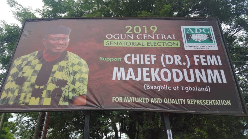 chief dr olufemi majekodunmi nigerian senate 2019 elections ogun central