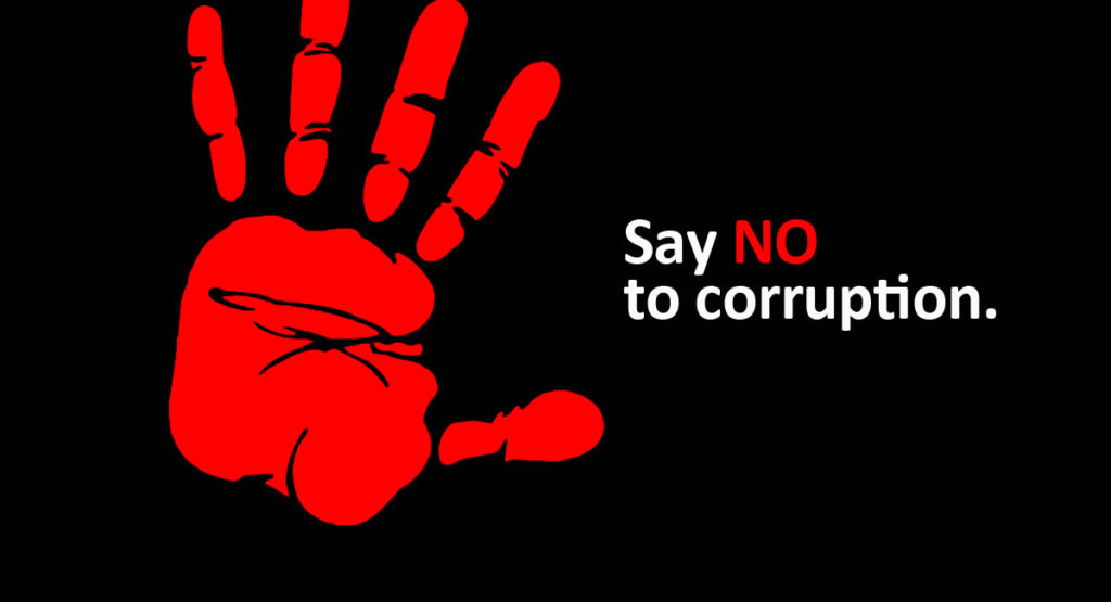 say no to corruption financial loss africa