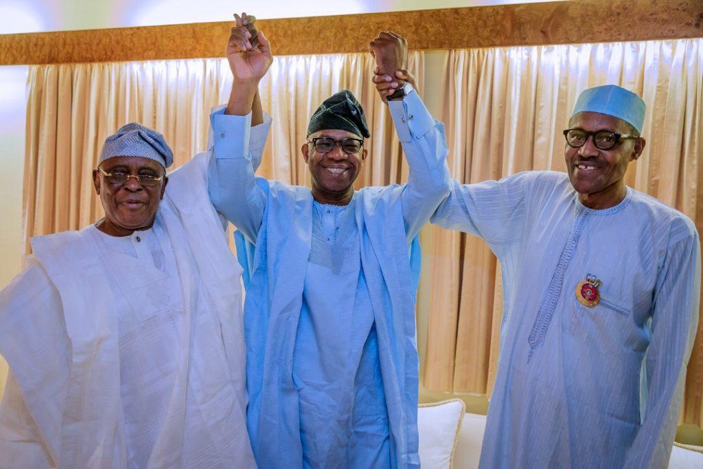 president muhammadu buhari governor dapo abiodun olusegun osoba amosun
