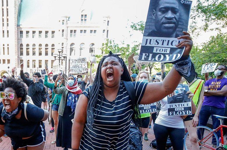 justice for george floyd racist leaders usa